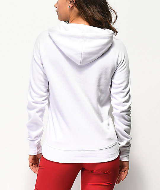 A-Lab Brealynna Rainbow Stipe White Hoodie