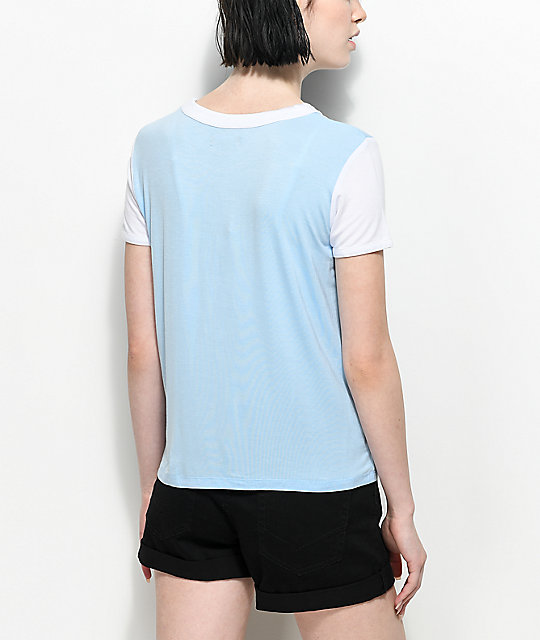A-Lab Byrl Over It camiseta blanca y azul claro