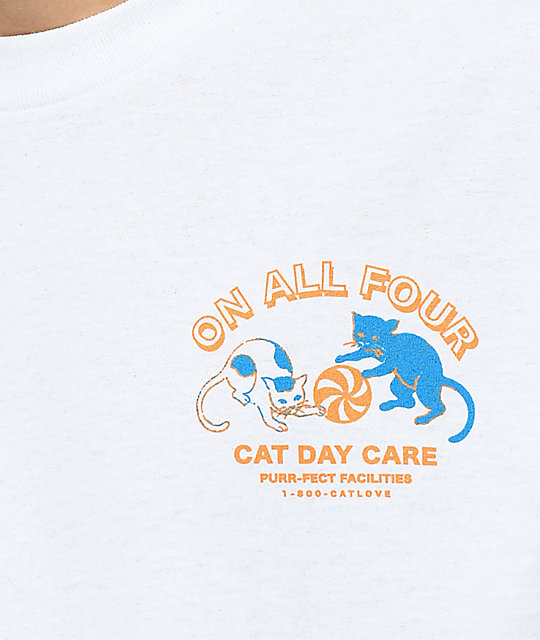 A-Lab Cat Day Care White T-Shirt