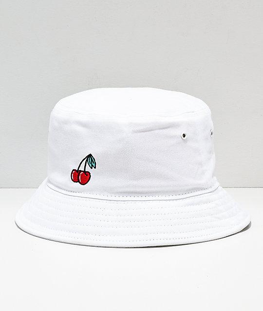 a285bc65e51 A-Lab Cherries White Bucket Hat
