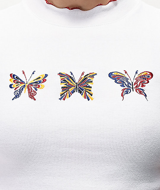 A-Lab Curly Butterfly White T-Shirt