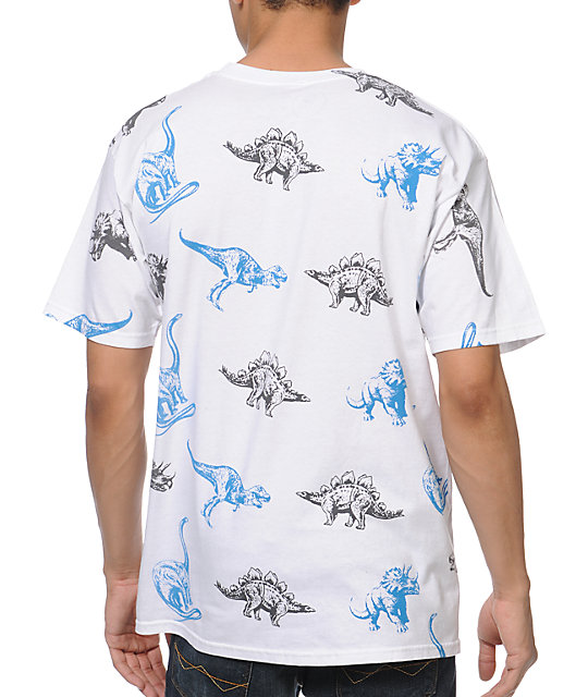 A-Lab Dino Party White T-Shirt