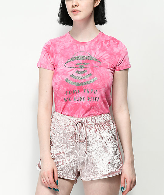 A-Lab Ezra Come Thru Glitter Pink T-Shirt