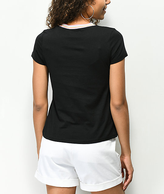 A-Lab Ezra Get It Girl Black T-Shirt