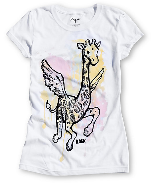 A-Lab Flying Giraffe White UV Color Change T-Shirt