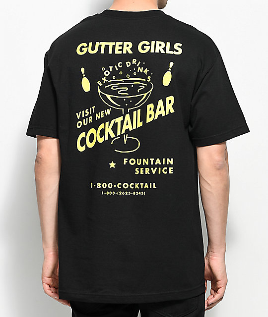 A-Lab Gutter Girls Bar camiseta negra