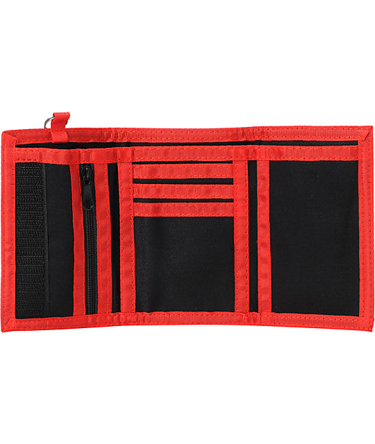 A-Lab Human Resources Red & Black Tri Fold Wallet