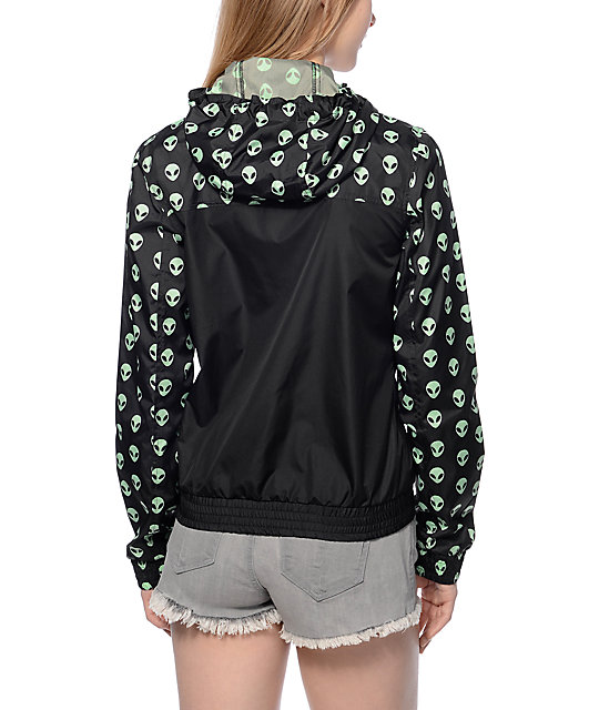 A-Lab Kendrick Black & Green Alien Windbreaker