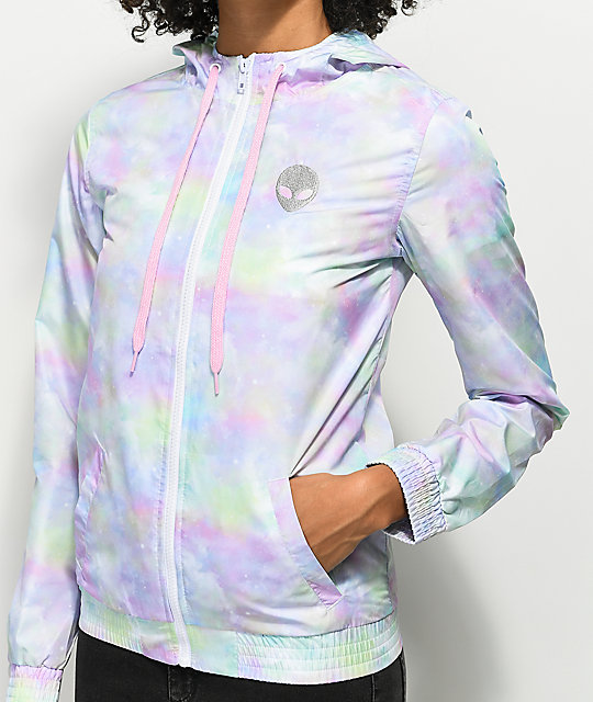 A-Lab Kenlie Alien Multi Tie Dye Windbreaker Jacket