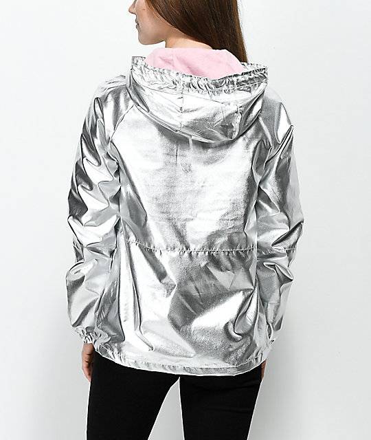 A-Lab Layla Silver Windbreaker Jacket