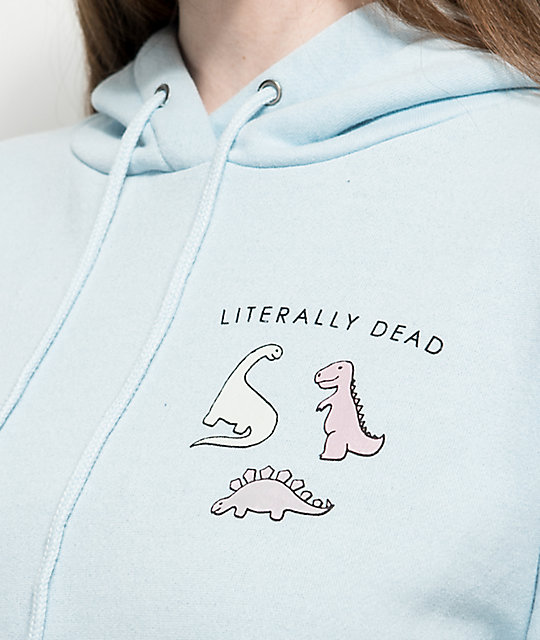 A-Lab Lucia Literally Dead Light Blue Hoodie