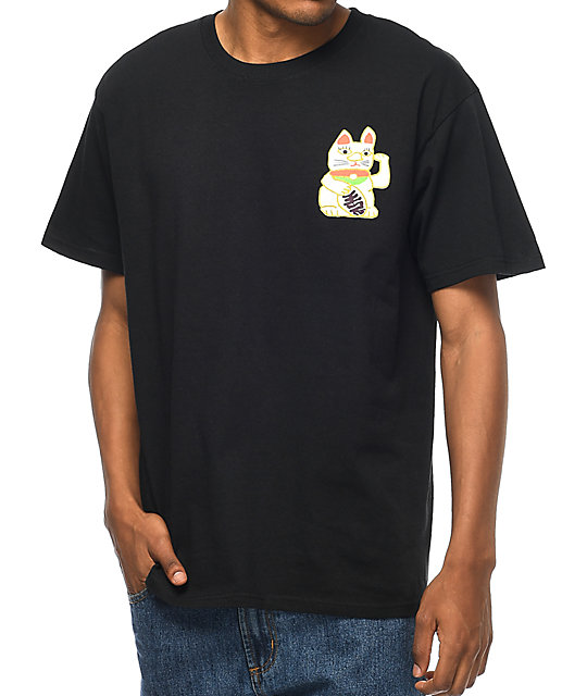 A-Lab Lucky Cat camiseta negra