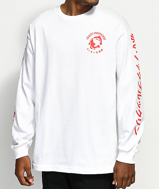 A-Lab Lucky Fisherman White Long Sleeve T-Shirt