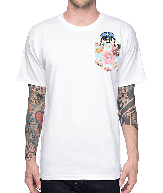 A-Lab Officer Sprinkles White Pocket T-Shirt