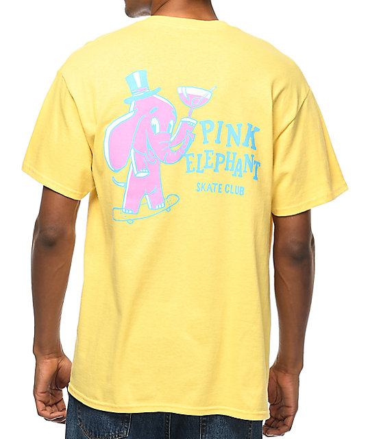 A-Lab Pink Elephant camiseta en color amarillo