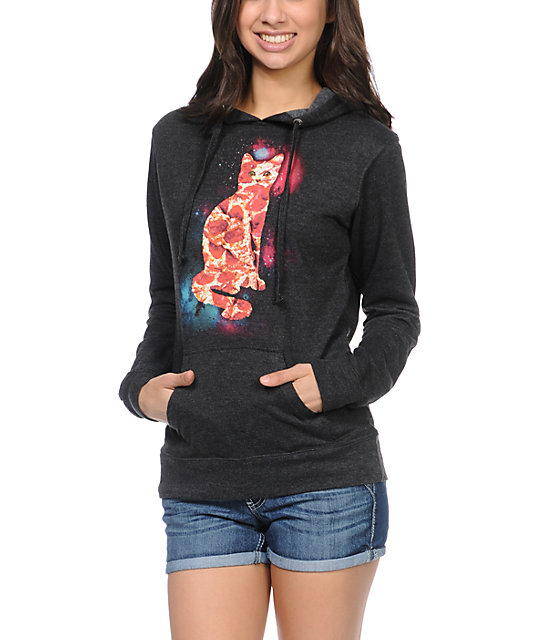 A-Lab Pizza Cat Charcoal Pullover Hoodie
