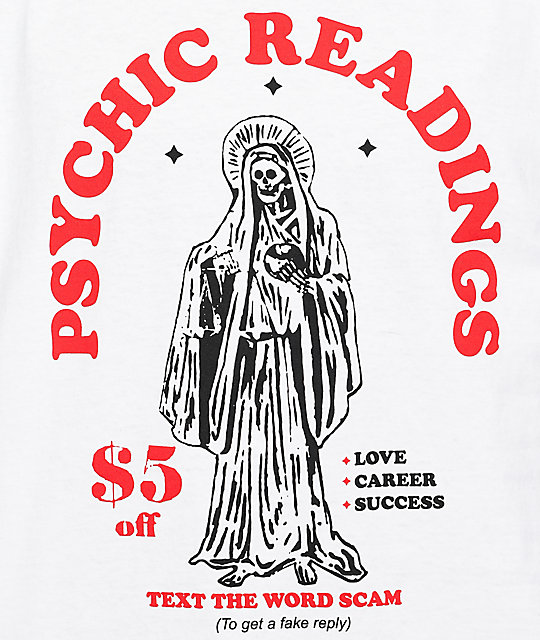 A-Lab Psychic Readings camiseta blanca