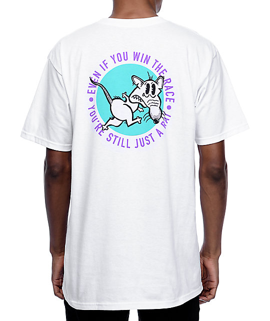 A-Lab Rat Race camiseta en blanco