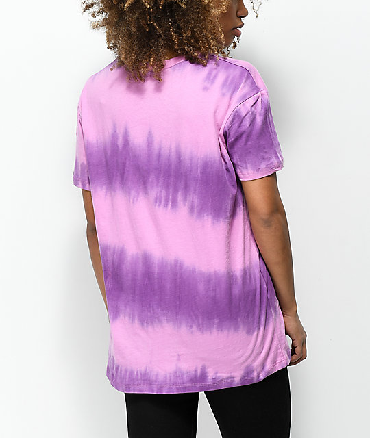 A-Lab Shannon Far Out Pink & Blue Tie Dye T-Shirt