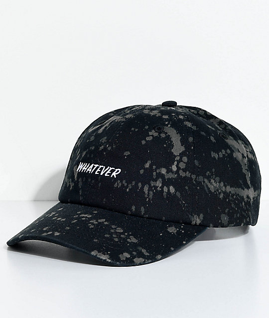 89a9a1d64 A-Lab Solstice Whatever Bleach Splatter Black Baseball Hat