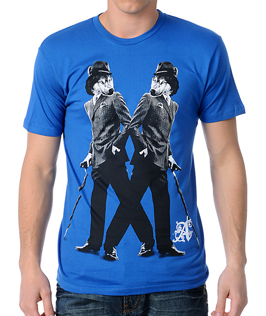 A-Lab Twin Wolves Blue T-Shirt