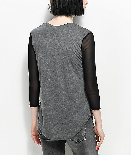 A-Lab Zanna You're Weird Mesh Sleeved T-Shirt