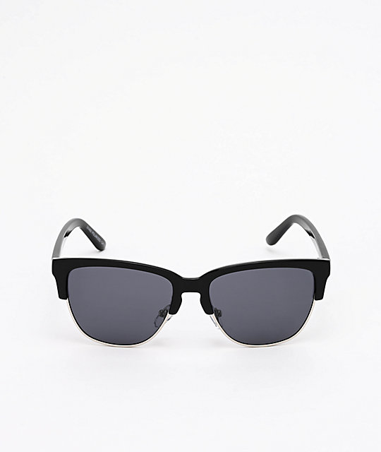 A Lost Cause Downtown Black & Smoke Polarized Sunglasses