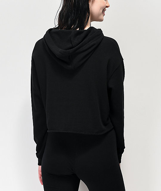 A Lost Cause Eternal Flame Black Crop Hoodie