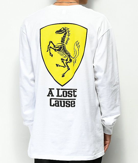 100% satisfaction guarantee highly coveted range of hottest sale A Lost Cause Ferrari White Long Sleeve T-Shirt