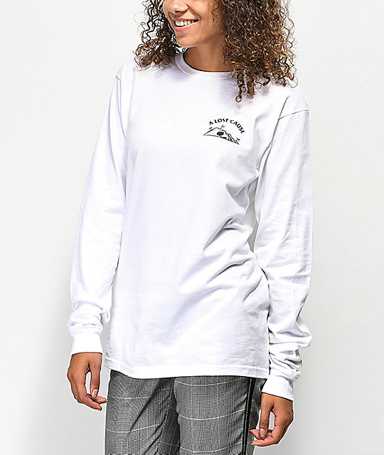 A Lost Cause From The Depths White Long Sleeve T-Shirt