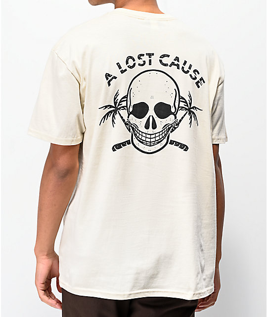 A Lost Cause Lazy Day Bone camiseta blanca