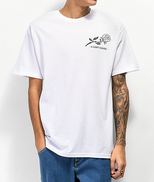 A Lost Cause Life To Death V2 White T-Shirt