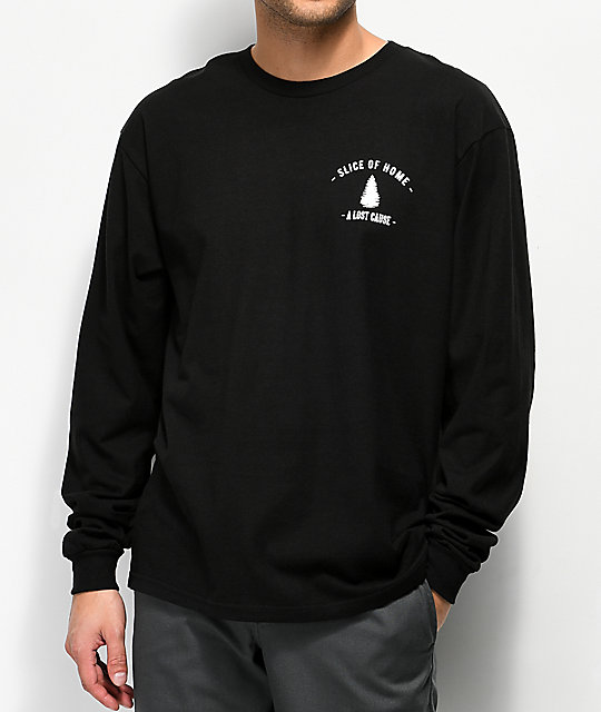 A Lost Cause Slice Black Long Sleeve T-Shirt