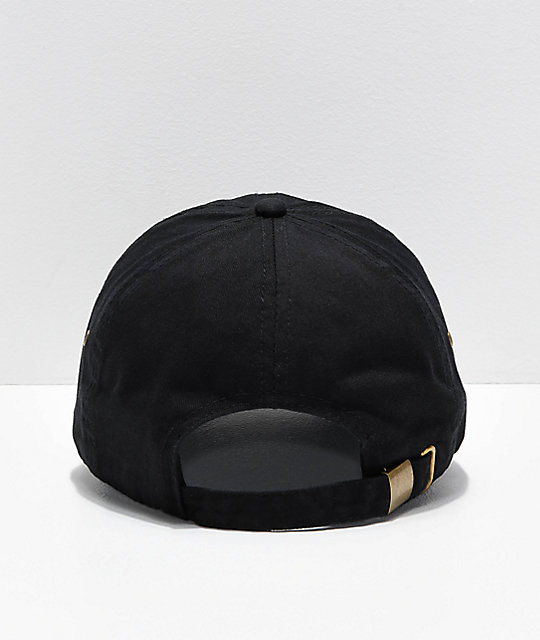 A Lost Cause Stacked Black Strapback Hat