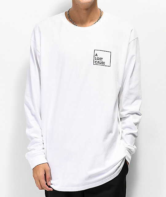 A Lost Cause Tropix V2 White Long Sleeve T-Shirt