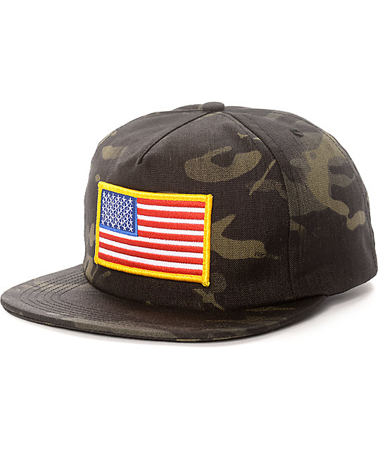 ABC Hat Co. Springsteen Camo Snapback Hat