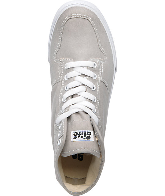 ALIFE Everybody High Grey Canvas Shoes