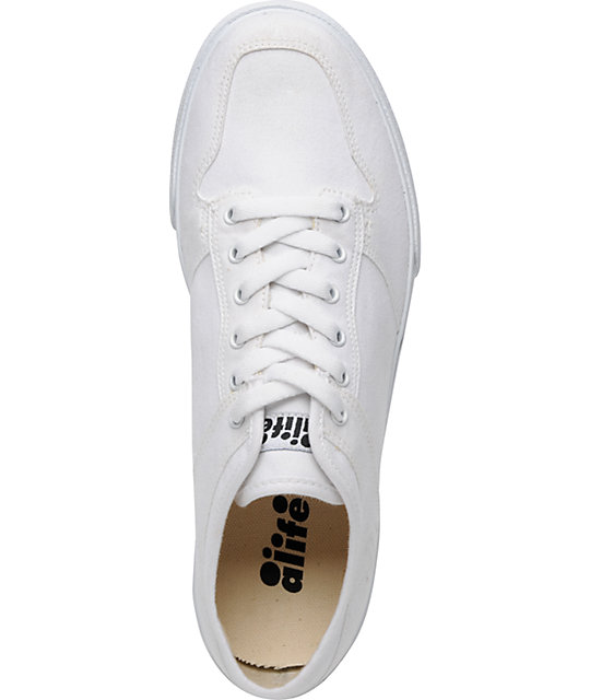 ALIFE Everybody Low White Canvas Vegan Shoes