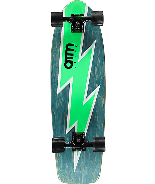 "ATM Bolt Green 29""  Cruiser Complete Skateboard"