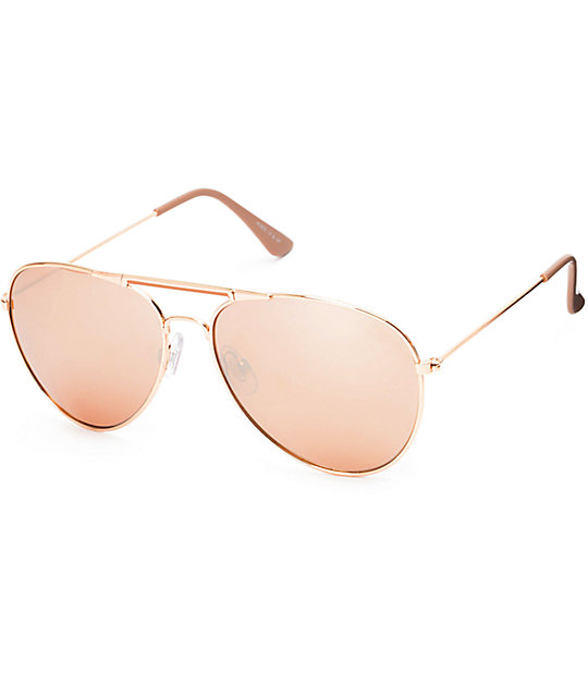 b1dd55dd8f66a Accomplice Rose Gold Aviator Sunglasses