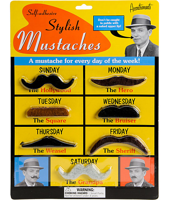 Accoutrements Stylish Mustache Pack