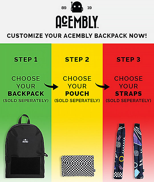 Acembly Build Your Own BKPK Bandana mochila negra de 13.8L