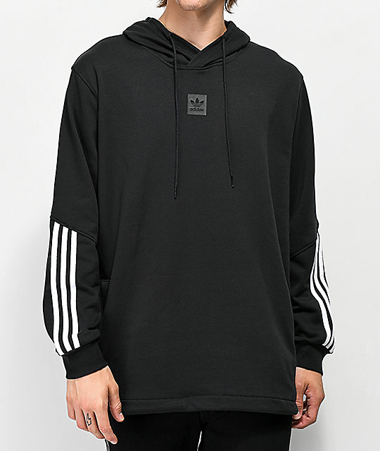 Adidas Hoodie Cotton and polyester Adidas hoodie. Black with