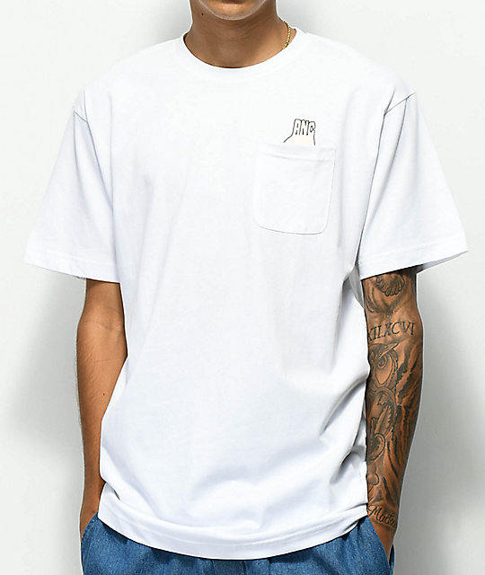 Ain't Nobody Cool Circle Game Pocket White T-Shirt