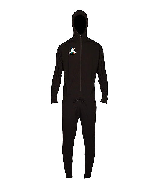Airblaster Black Sumo Suit Mens Long Underwear