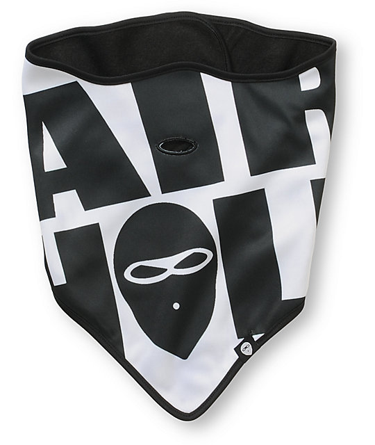 Airhole Big Logo White & Black Face Mask Bandana