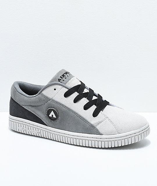 Airwalk Random Skate Shoe(Women's) -Black/White Suede
