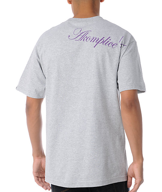 Akomplice Crack Heather Grey T-Shirt