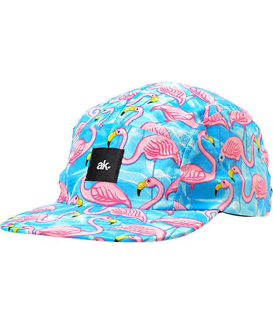 Akomplice Flamingo Pink   Blue 5-Panel Hat  761540b2219