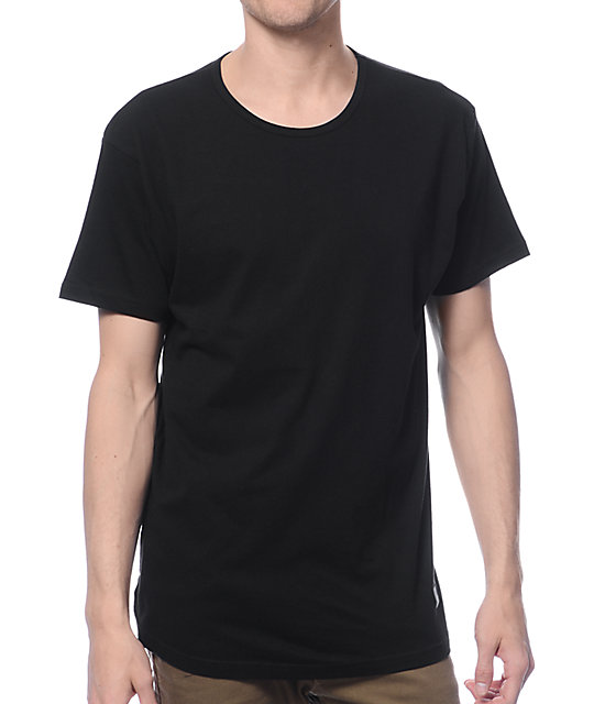 solid black t shirt